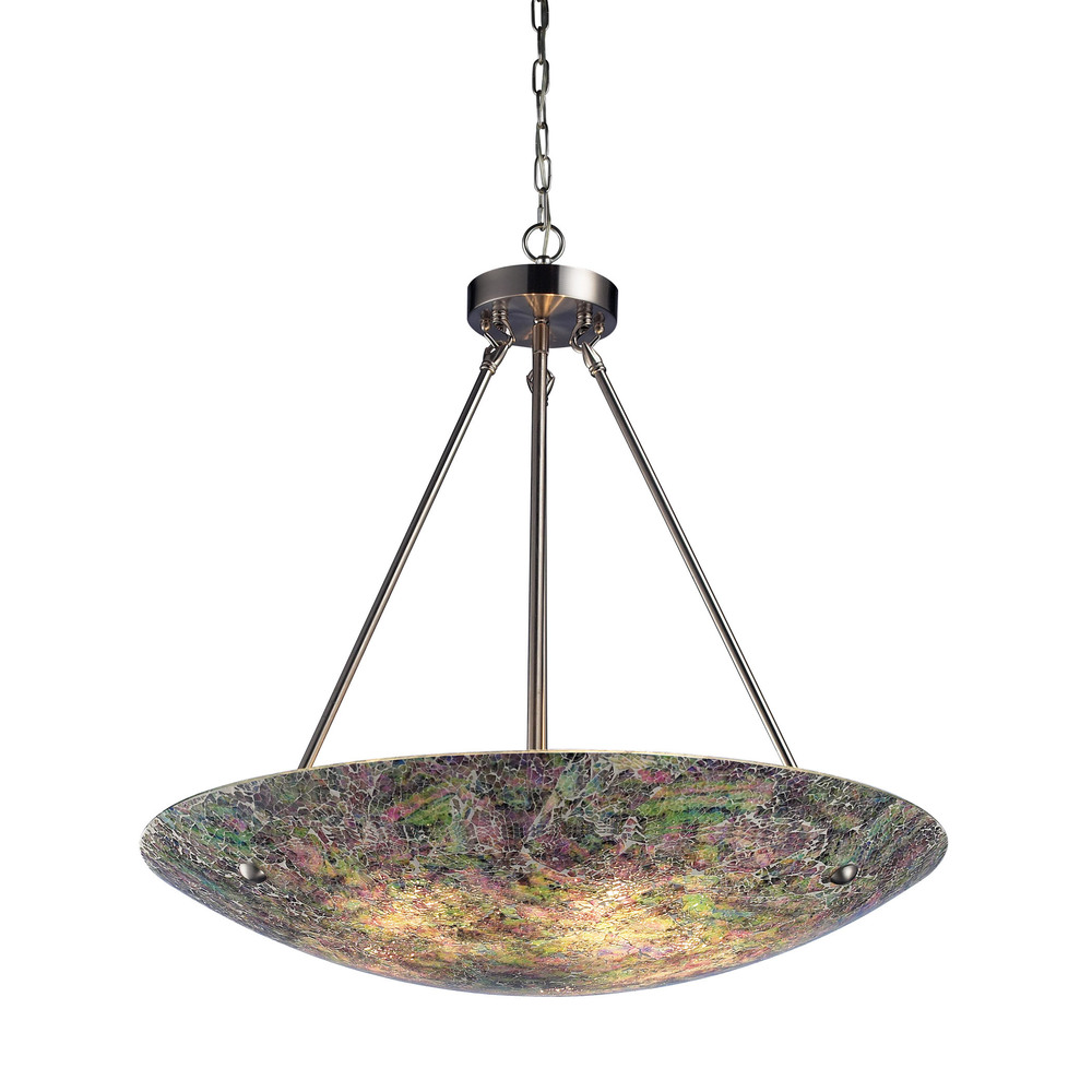 ELK Lighting - Avalon 5 Light Pendant In Satin Nickel