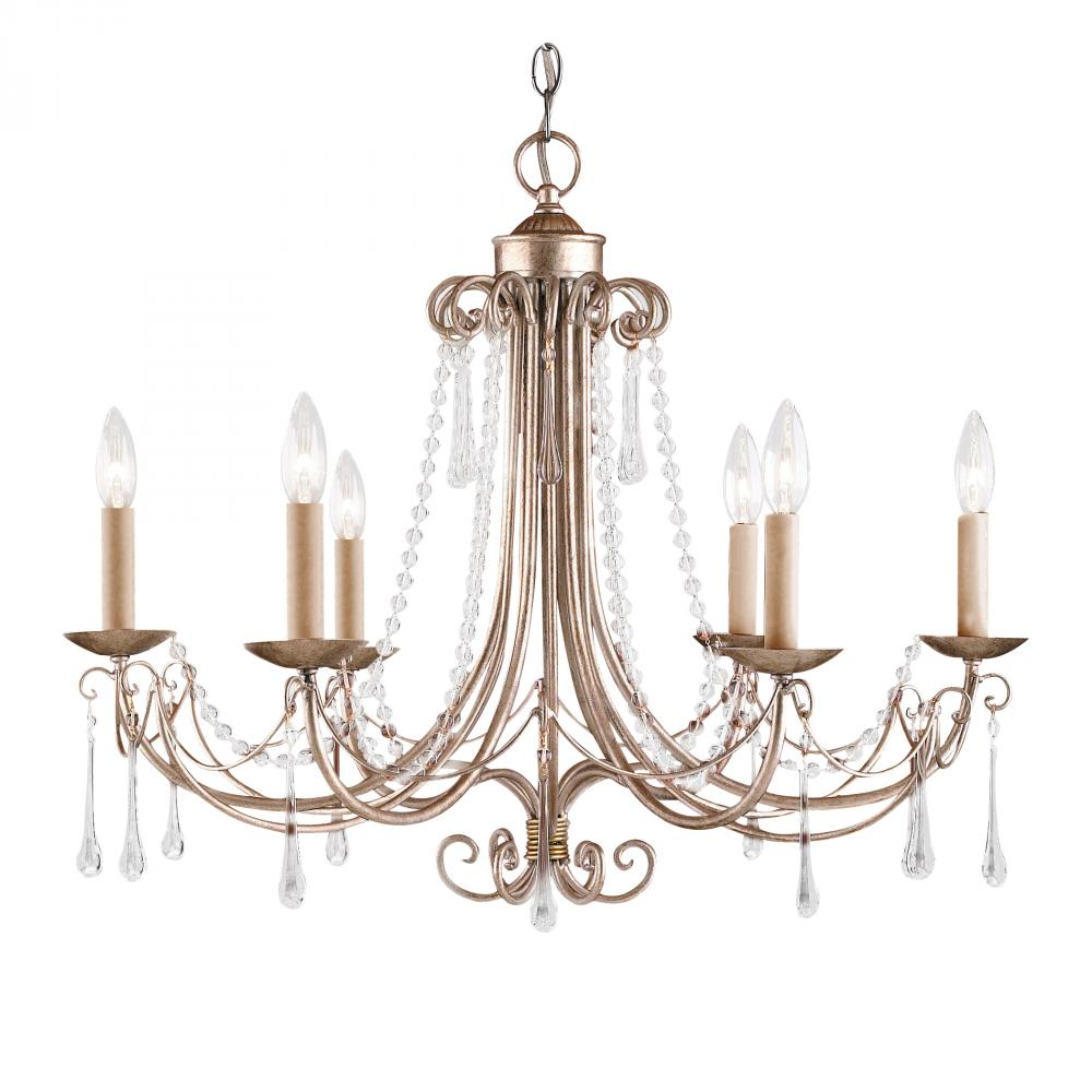 ELK Lighting: Cambridge 6-Light Chandelier In Antique Silver