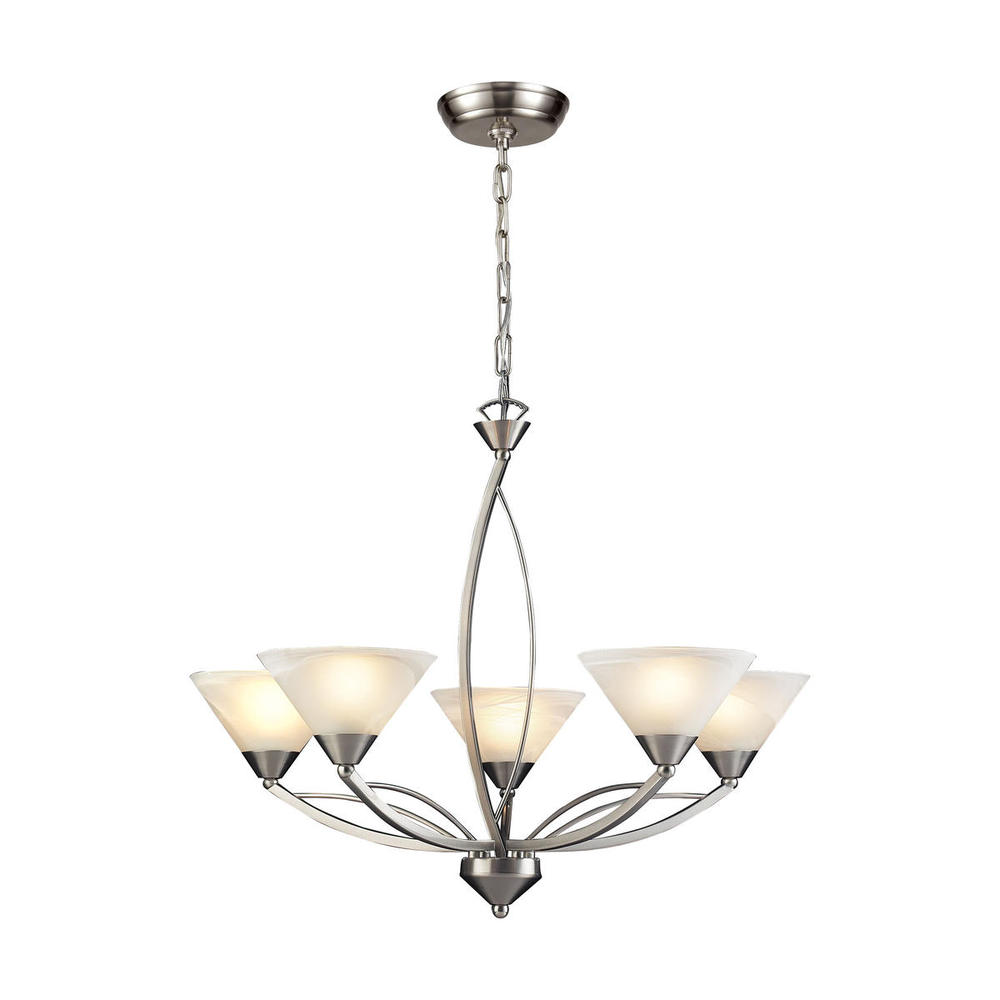ELK Lighting: Five Light Nickel Up Chandelier