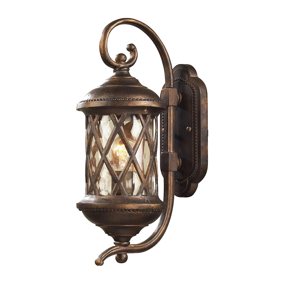 ELK Lighting: One Light Bronze Wall Lantern