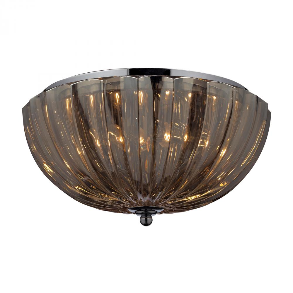 ELK Lighting: Two Light Chrome Bowl Flush Mount