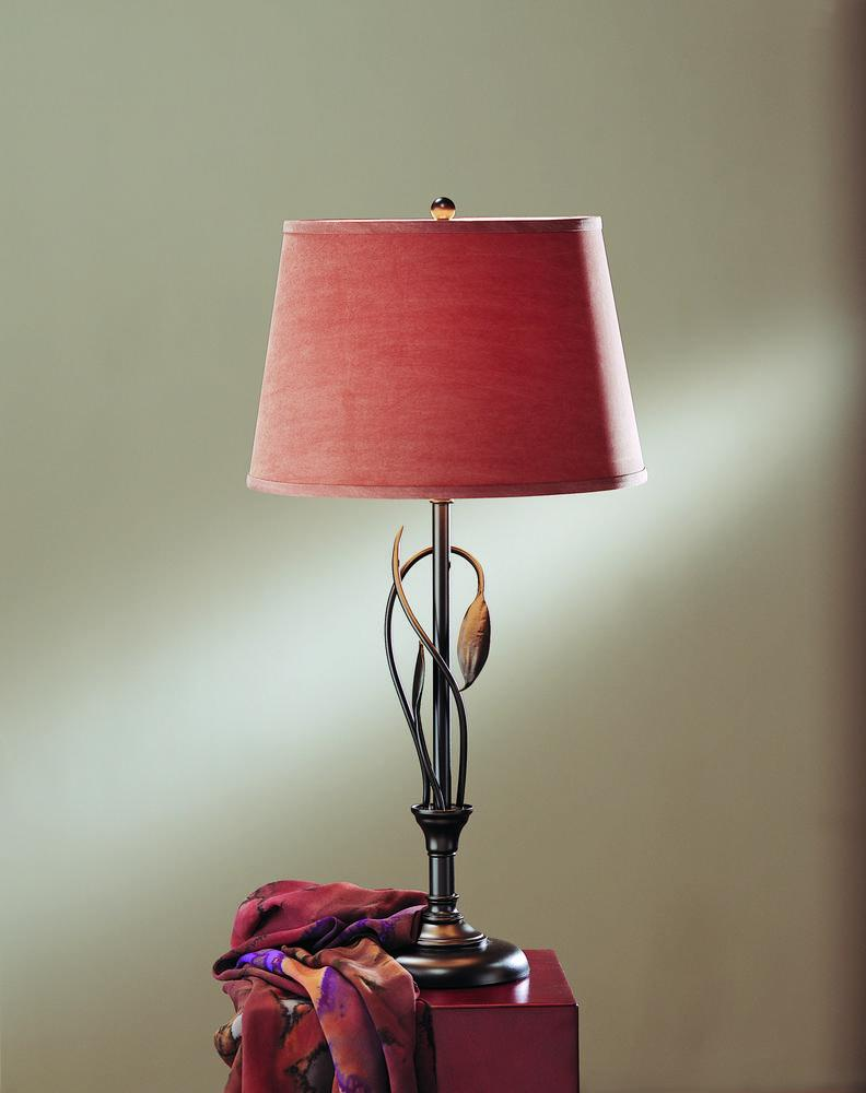 Hubbardton Forge Leaf Table Lamp.